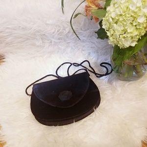 Lovely, VINTAGE, velvet, rosette purse!!